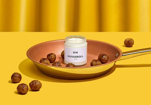 meat-ball scented candle