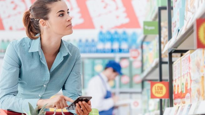 Frozen food and alcohol are popular with retail shoppers