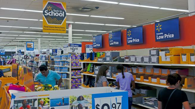 Back to School at Walmart