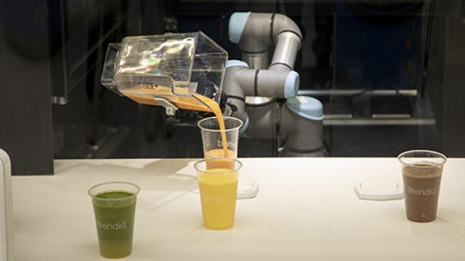 Blendid, Jamba Open 1st Co-Branded Location Robotic Kiosk Smoothies