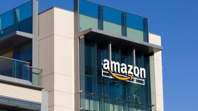 Amazon logo building