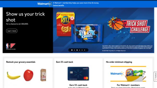 walmart website screenshot