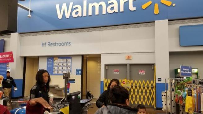 Walmart store inside