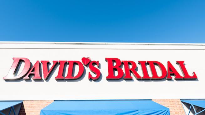 David's Bridal shop sign