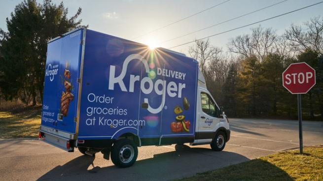 Kroger delivery truck